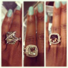 David yurman giant rings for my giant fingers I Love Jewelry, Jewelry Box, Jewelry Watches, Jewelry Accessories, Handbag Accessories, Fine Jewelry, Jewelry Design, Jewelry Bracelets, Fashion Rings