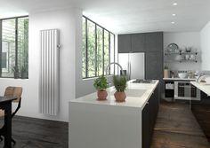 ambiance cuisine design  radiateur connecté Mythik #objet connecté