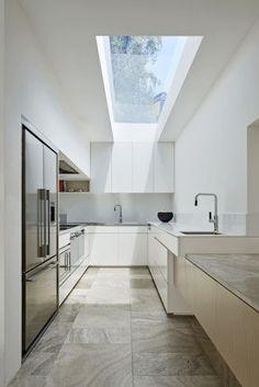 Sleek, contemporary kitchen.