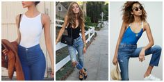 How To Wear Jeans With Bodysuits: Simple Ideas - 2018 Fashion Trends Fashion Tag, Only Fashion, Womens Fashion, Fashion Trends, Mom Jeans, Basic Tank Top, Street Style, Tank Tops, Bodysuits
