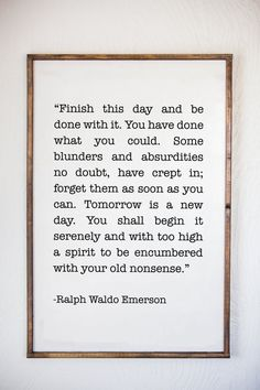 Ralph Waldo Emerson Quote Emerson Sign Tomorrow is a by Sophistiqa