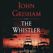 I just finished listening to The Whistler (Unabridged) by John Grisham, narrated by Cassandra Campbell on my #AudibleApp. https://www.audible.com/pd?asin=B01JKG9E9M&source_code=AFAORWS04241590G4