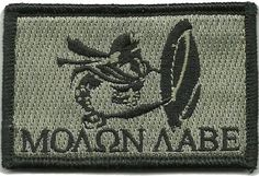 Spartan - Molon Labe Tactical Patch - ACU/Foliage by Gadsden and Culpeper, http://www.amazon.com/dp/B009LA3OJE/ref=cm_sw_r_pi_dp_y1B.qb0TY55EA