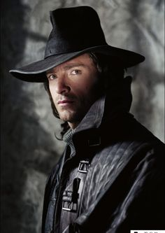 As Van Helsing, Hugh Jackman dons a hat that looks like a  slightly more healthy version of Hector's.