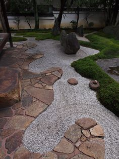 45 DIY Backyard Zen Garden Ideas - Modern zen gardens usually support as an addition to a larger yard, offering a peaceful corner for - Japanese Rock Garden, Zen Rock Garden, Zen Garden Design, Japanese Garden Design, Landscape Design, Japanese Gardens, Japan Garden, Land Scape, Backyard Landscaping