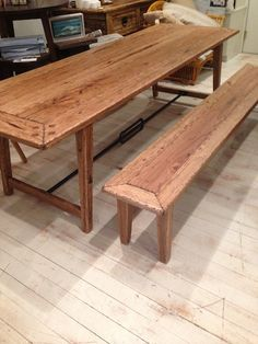 Made to Order (any size) stunning Blackbutt Dining table and Bench Seat. #rustic #interior #homewares #interiorstyle #furniture #homedecor #table #diningtable #benchseats #blackbutt #wood #woodenfurniture