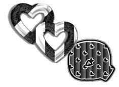 Alfabeto blanco y negro de corazones. | Oh my Alfabetos!