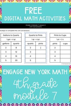 Master the skills taught in Engage New York Math Grade 4 with these FREE digital math activities. These interactive math worksheets are on Google Slides, so you can easily move pieces or fill in blanks to solve 4th grade math problems to review Engage New York Math Grade 4. These are perfect for digital math centers or interactive math worksheets. Best of all? They are FREE at TheProductiveTeacher.com! #engagenewyork #digitalmath #onlinemath #interactivemathworksheets #TheProductiveTeacher Subtraction Activities, Math Worksheets, Math Activities, Math Fractions, Multiplication, Elementary Teacher, Upper Elementary, 4th Grade Math Problems, Teaching Math