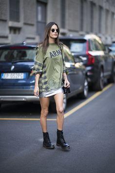 Alessandra Ambrosio à la Fashion Week printemps-été 2018 à Milan