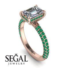 Hidden Halo Emerald Cut Diamond Engagement Ring - Ximena No. Emerald Cut Diamond Engagement Ring, Elegant Engagement Rings, Emerald Cut Diamonds, Designer Engagement Rings, Diamond Wedding Rings, Diamond Cuts, Engagement Gifts, Diamond Rings, Pink Diamonds
