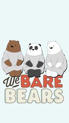 we bare bears lockscreens Cartoon Wallpaper Iphone, Bear Wallpaper, Homescreen Wallpaper, Cool Wallpaper, We Bare Bears Wallpapers, Cute Wallpapers, We Bear, Pokemon, Kawaii