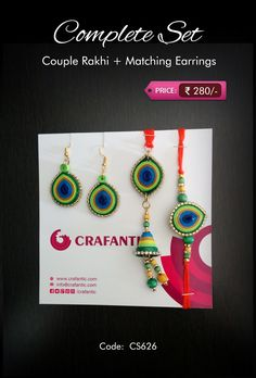 Crafantic Quill Complete Set:  Morpankh(Peacock Feather) - Crafantic Special.  Code: CS626 Price: ₹280/-  #crafantic #rakhi #quilling #quillingrakhi #quillingart #morpankh #peacock #feather #special #featured Quilling Jewelry, Paper Quilling, Quilling Rakhi, Rakhi Making, Handmade Rakhi, Rakhi Design, Diy And Crafts, Paper Crafts, Girly Drawings