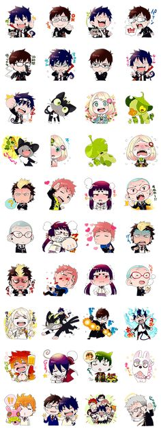 Blue Exorcist Line Sticker