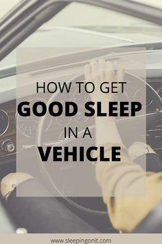 Improve your sleep on the road with these car camping tips! #SleepInACar #RoadTrip #Sleep #CarCamping #SleepHacks #SleepBetter #FeelRested