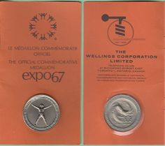 The Official Commemorative Medallion Expo67  - 1967