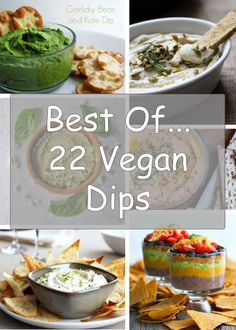 "Round Up of 22 ""Best Of"" Vegan Dips      