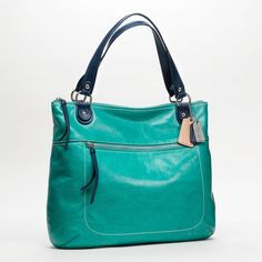 Coach :: Poppy Leather Spectator Glam Tote
