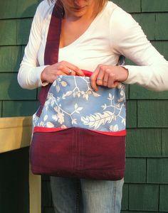 External pockets :: Osoberry bag pattern