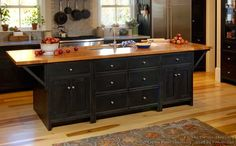 #Kitchen Idea of the Day: Traditional black kitchens gallery. (By Crown Point Cabinetry)