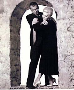 Vertigo, by Hitchcock, with Jimmy Stewart and Kim Novak.  Hitchcock rose to great heights with this one ;)