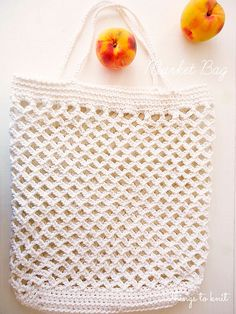 Crochet bag - this would be excellent for the farmers market!