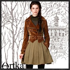 Artka® Women's 2015 4 Seasons Skin Friendly Vintage Fashion Slim Waist Jacket  LA10543Q    Retail: GBP £166.90  /     Promotion Price / GBP £89.50  Visit Our Ebid Store :       http://pierrette-new-store2.ebid.net/