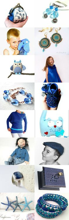 Beautiful Blues For Any Occasion by Maria on Etsy--Pinned with TreasuryPin.com