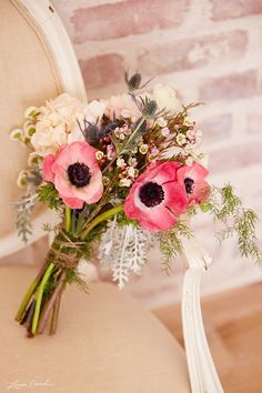 | Gorgeous Anemone Bouquet for Bridesmaids |