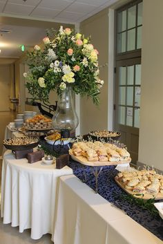 great buffet table arrangement