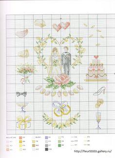 Grille gratuite point de croix oiseaux et coeur broderie points compt s pinterest - Veronique enginger grille gratuite ...