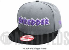 Shredder Teenage Mutant Ninja Turtles TMNT Placid Grey Hyacinth Purple New Era Snapback