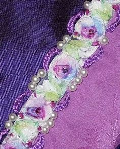 Purple embellishemtns for RR Block - Created by Nicki Lee - Raviolee Dreams