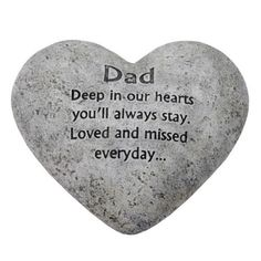 In Loving Memory Graveside Heart Plaque Stone -Dad Grave Memorial in Home, Furniture & DIY, Celebrations & Occasions, Memorials & Funerals | eBay