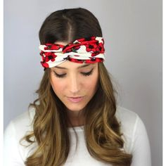 Red Floral Twist Turban