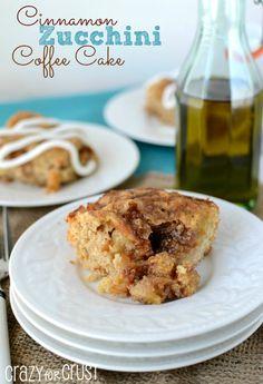 Cinnamon Zucchini Coffee Cake - Crazy for Crust