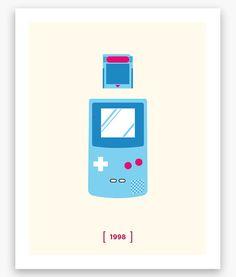 Nintendo Minimalist H Series: Gameboy Color Poster (11 x 14)