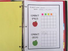 My conduct book system for classroom management...