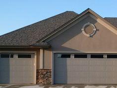 A minimalist design of home and garage door.
