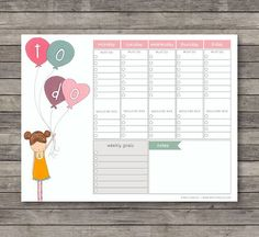 Weekly To Do Planner . Digital Collection . Mayi par MayiCarles