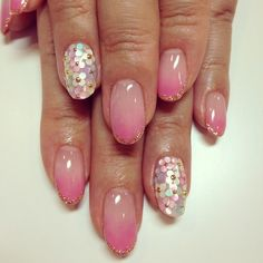 sequins, glitter and ombre.