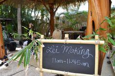 #Lei Making at #AquaBamboo Waikiki.