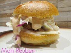 Mahi Reuben Sandwich Recipe My husband and I love eating seafood. Not only is it great for you, but it is a fresh and delicious option to meat. And I know