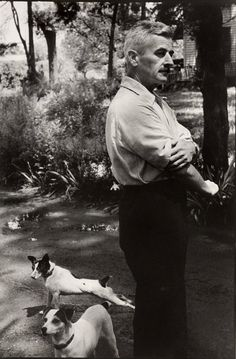 William Faulkner (one of my favorite photos of him) I love The Sound and the Fury.