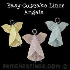Angel Cupcake Liner Ornament Craft from www. Copyright 2014 - Angel Cupcake Liner Ornament Craft from www.daniellesplac… Copyright 2014 Informations About Angel - Preschool Christmas, Christmas Ornament Crafts, Angel Ornaments, Christmas Activities, Christmas Crafts For Kids, Christmas Angels, Christmas Projects, Kids Christmas, Holiday Crafts