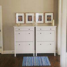 Ikea hemnes shoe cabinet. shoe Storage and organization.