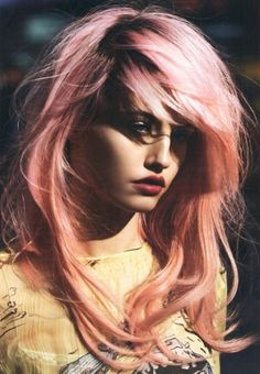 Maybelline spokesmodel Charlotte Free, in all her pink hair awesomeness.