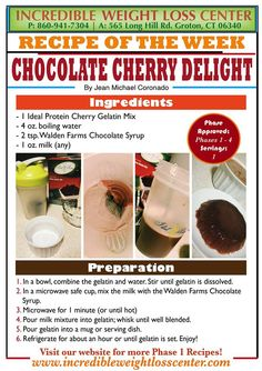 ideal protein Chocolate Cherry Delight