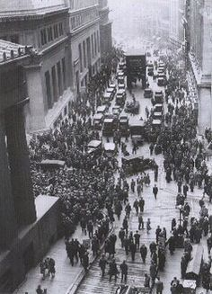 "the Crash of '29 or ""Black Tuesday"" 
