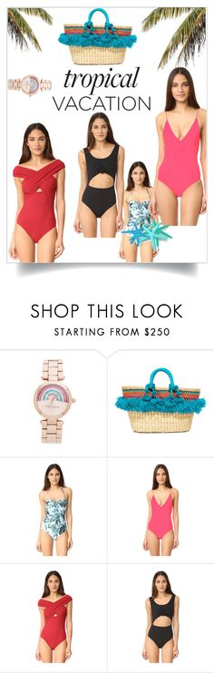 """Tropical Beach Fashion!!"" by stylediva20 on Polyvore featuring Marc Jacobs, Nannacay, Mara Hoffman, Dion Lee, Karla Colletto and Beth Richards"