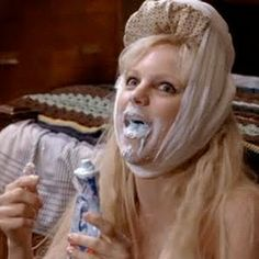 """Look she's fine, she's got her toothpaste!"""